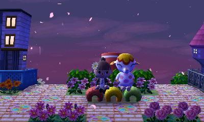 夜桜のベンチ