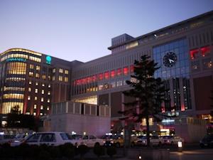 夕暮れの札幌駅