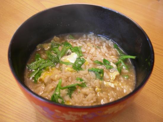 ジャンボ舞茸鍋の汁de雑炊