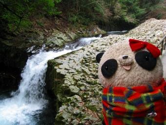 おばぶ河津の滝にて