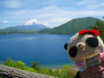 ばぶちゃん本栖湖にて02
