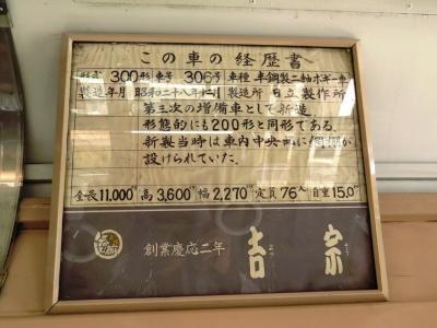 300形306号の経歴書