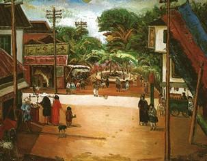 台湾4  嘉義街中心1934 年