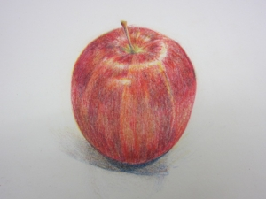 色鉛筆リンゴ