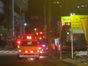 終結する消防車