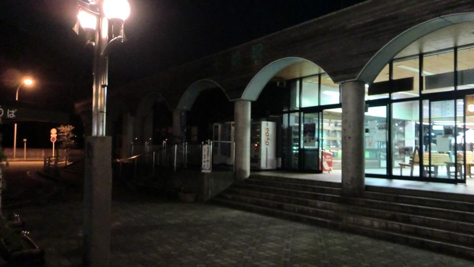 夜の千頭駅
