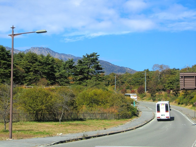 清泉寮への道路