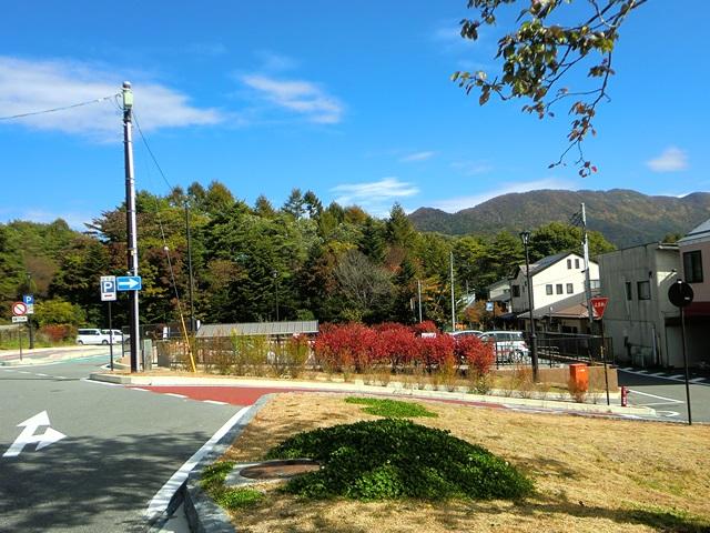清里駅前の眺め(野辺山方面)