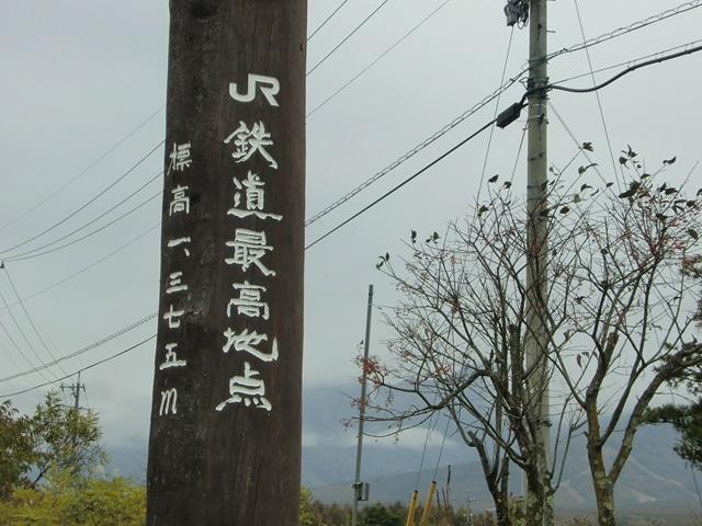 JR鉄道最高地点の記念碑
