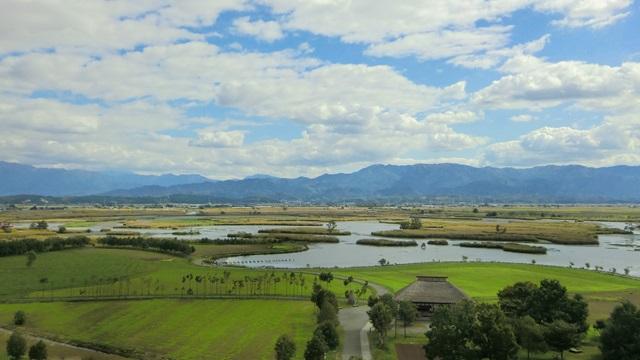 福島潟に広がる景色