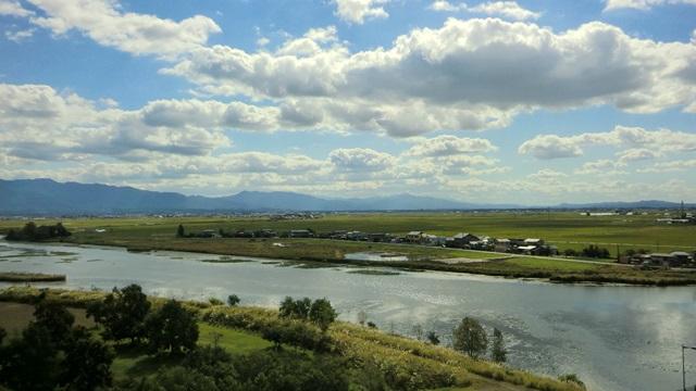 福島潟から南西方面の景色