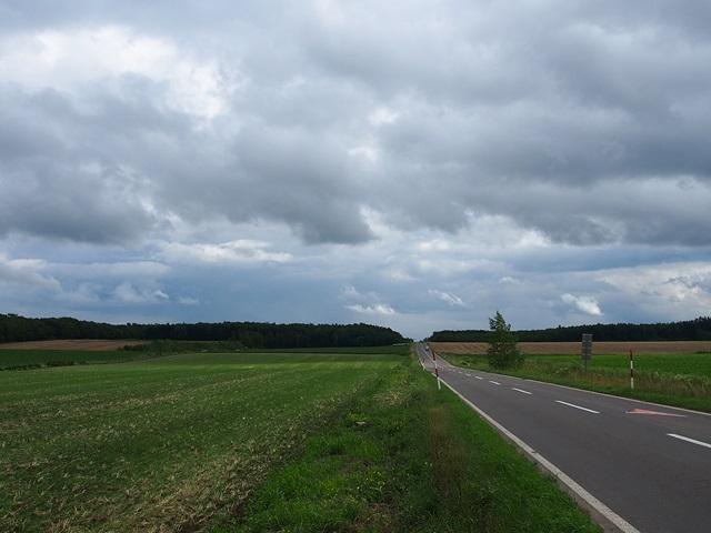 曇り空の下の道路