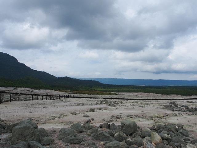 硫黄山の周囲の景色