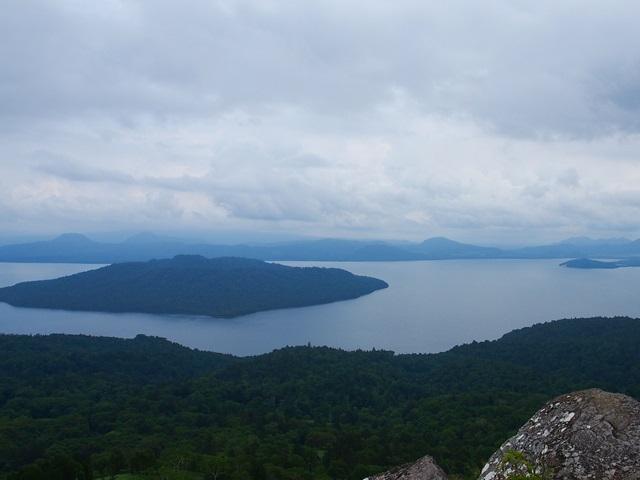 展望台から見た屈斜路湖