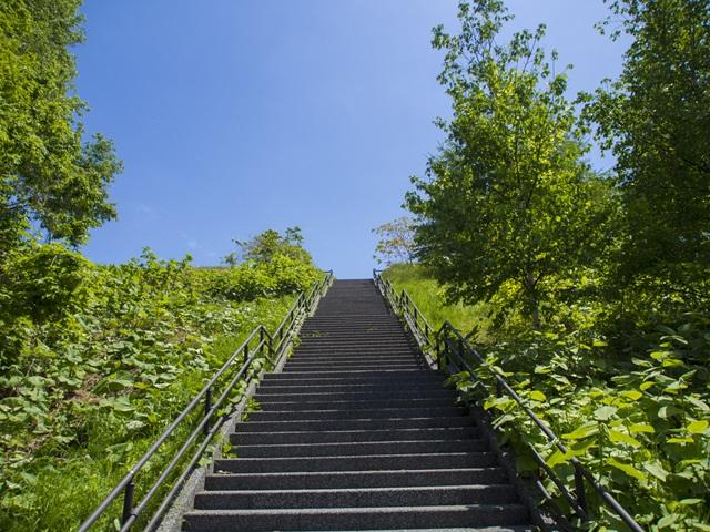 宮丘公園の階段