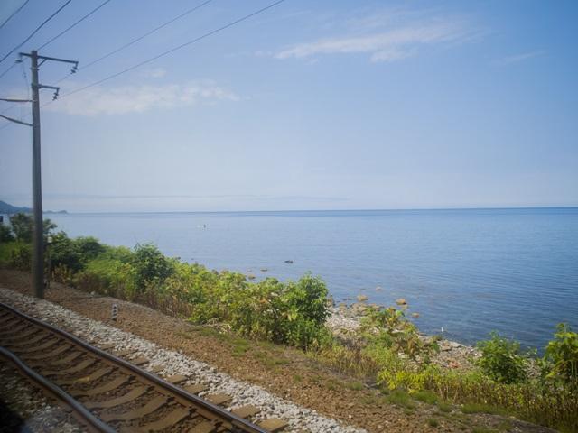 函館本線の車窓風景