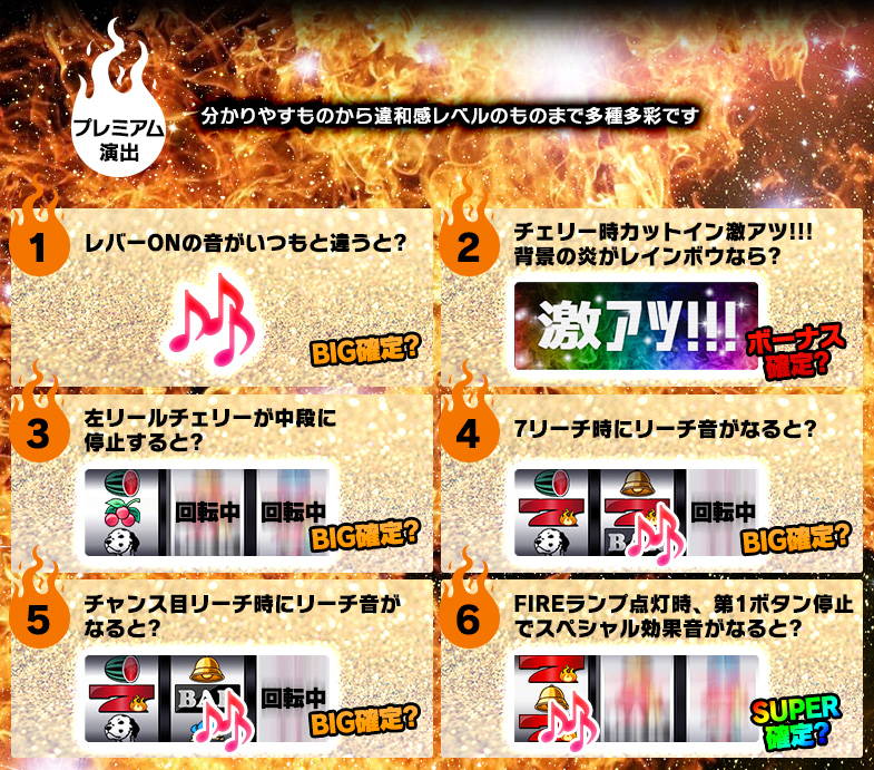FIRE FIRE プレミア演出