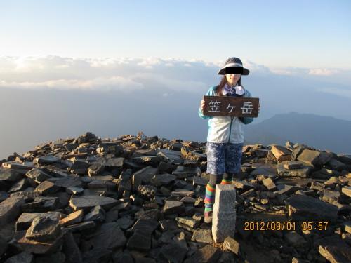 2012年9月1日笠ヶ岳_1
