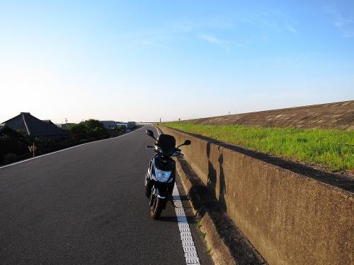 木曽川川上り 木曽川堤防(木曽岬)