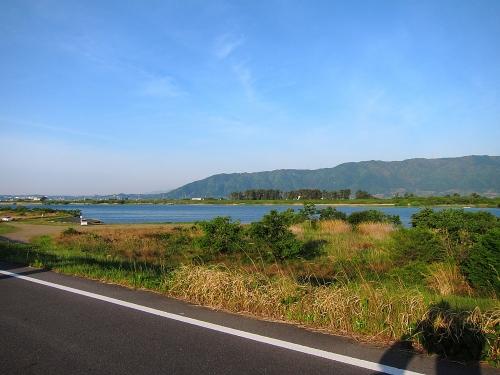 木曽川川上り 養老山地と木曽川