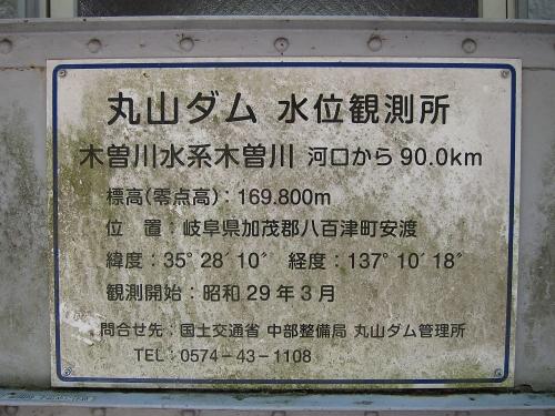 木曽川川上り 丸山ダム水位観測所