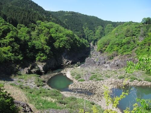 木曽川川上り 丸山ダム直下の木曽川