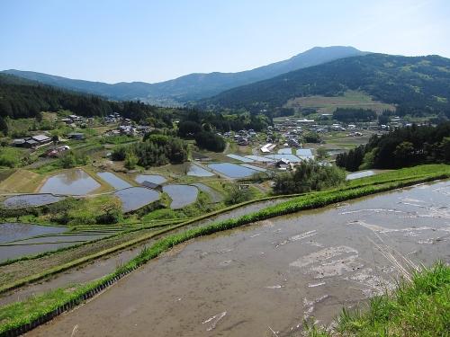 木曽川川上り 坂折棚田1