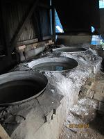 蔵盛さんの塩炊き釜
