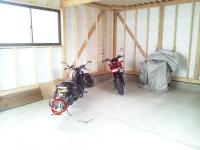 車庫建てたよ
