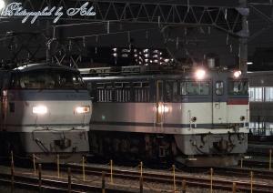 EF65-2065とEF66-111の並び