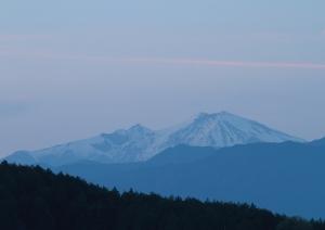 黄昏の御嶽山