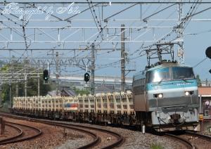 9085レ(=EF66-107牽引):UM12Aオンリー積載列車