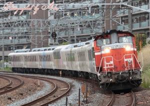 配9982レ(=DD51-1193+「あすか」7両フル編成)
