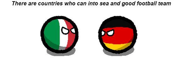サッカーと海1