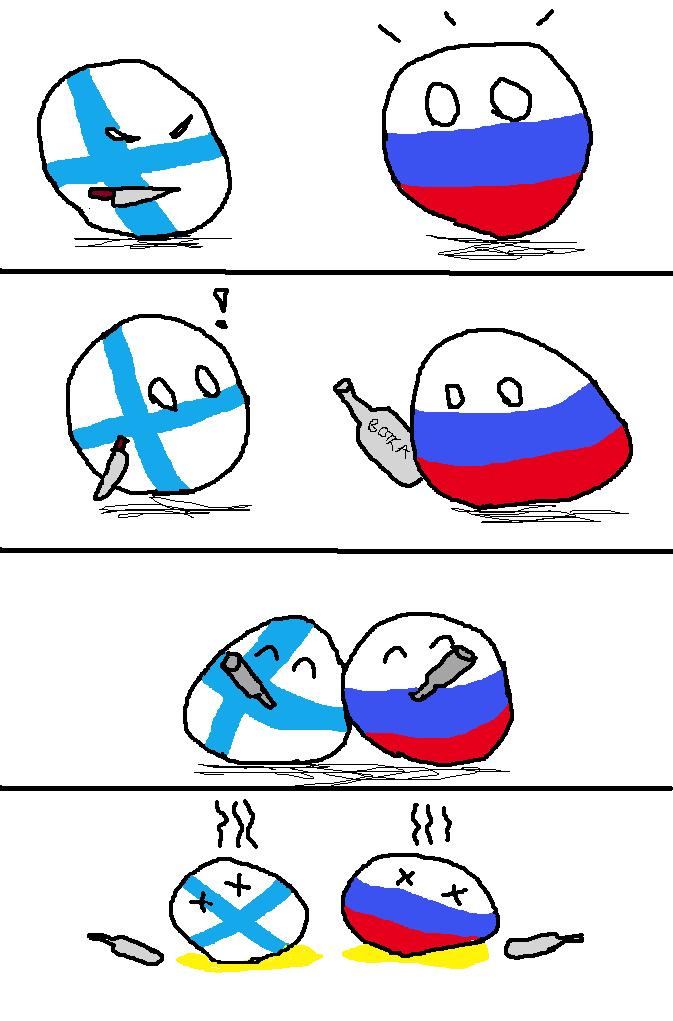 ロシアとフィンランドはなかよし