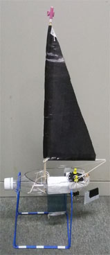 model sailboat using PET bottle