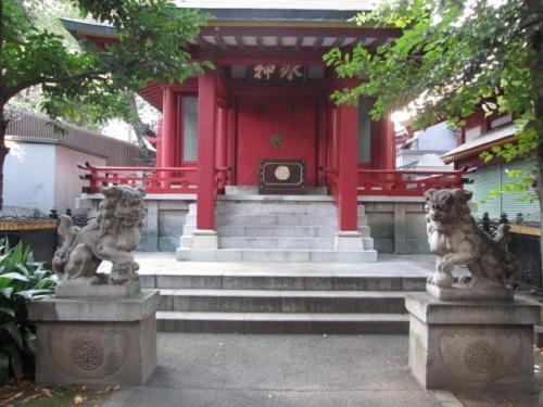 魚河岸水神社の狛犬さん