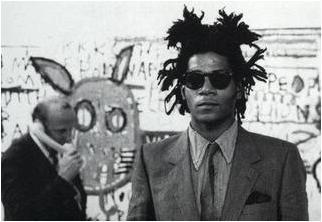 Bruno_Bischofberger_and_Basquiat,_Zurich_1982