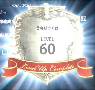 カロ60レベル達成!>、<b