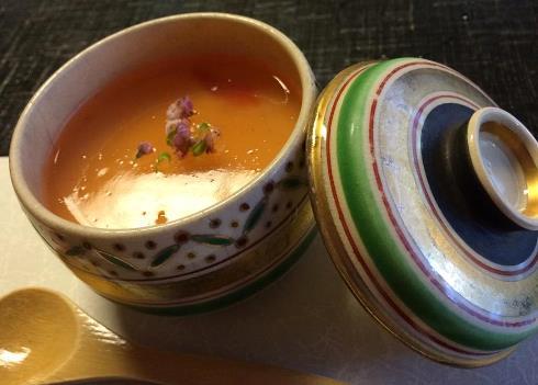 10)卵豆腐梅あんかけです