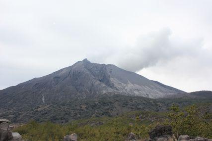 有村溶岩展望所噴火