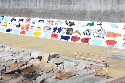 2014Mar田辺の海岸アート