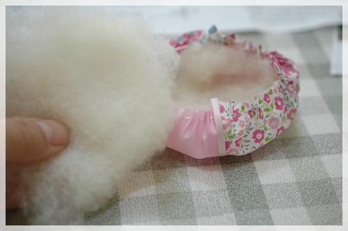 綿を入れる