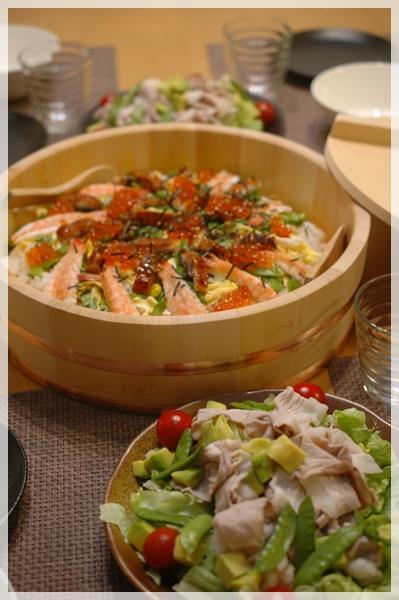 ちらし寿司の夕飯