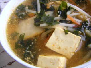 キムチの春雨スープ