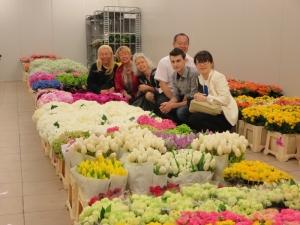 花市場にて