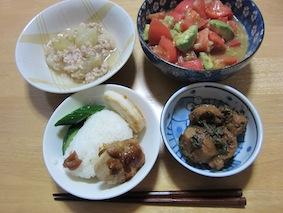 140906冬瓜の鶏そぼろ煮(まんお弁当)-S