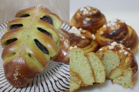 抹茶のパン3種類