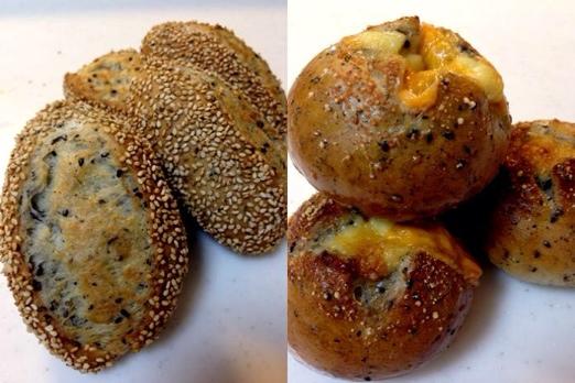 セサミブレッド・ゴマウインナーパン・ゴマチーズパン