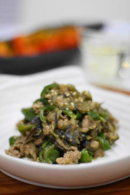 たっぷり夏野菜の肉味噌1
